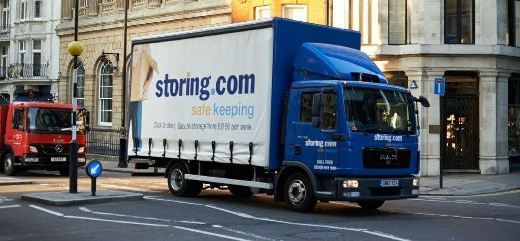 A self storage collection Lorry