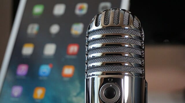 Equipment for recording podcasts